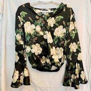 Another Story flowy blouse floral silky small